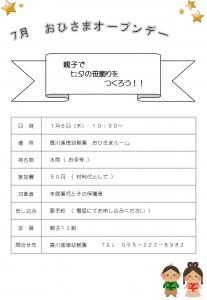おひさまオープンデ― H29.7②