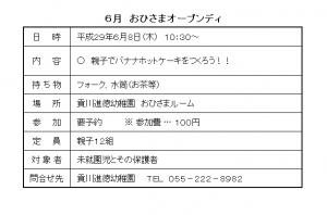 おひさまオープンデー H29.6②